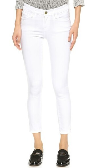 jeans skinny jeans cropped blanc