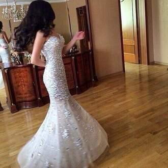 dress prom dress crystal dimond shiny shiny dress