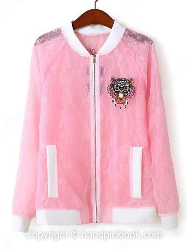 pink coat top coat