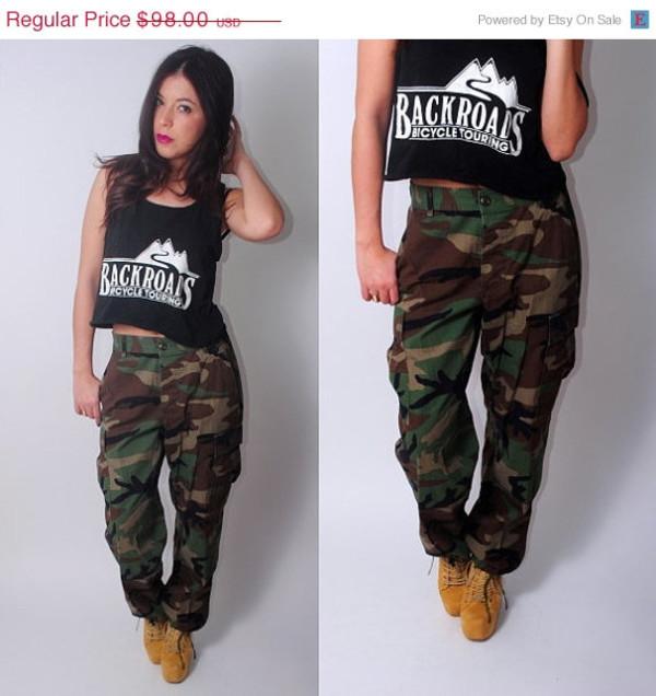 camouflage, camouflage, jumper, baggy pants, sweatpants, top, shoes, jeans, army  pants, camouflage pant, vue boutique - Wheretoget 662a7c7980e9