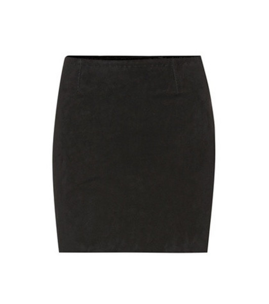 Stouls Rita suede miniskirt in black