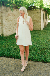style archives | the style scribe,blogger,dress,bag,shoes,jewels,white dress,mini dress,summer dress,summer outfits,sleeveless dress,sandals,pom pom sandals,flat sandals,pom poms