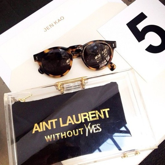 yves saint laurent bag sunglasses aint laurent without yves vintage tumblr