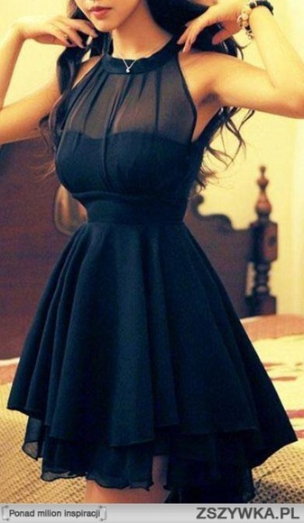 dress halter dress halter black pretty lovely skinny little black dress sleeveless seethrough