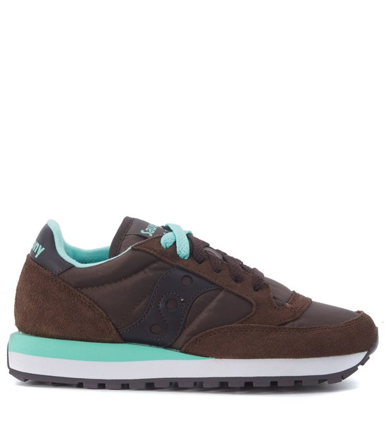 Saucony mesh suede brown shoes