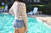 shorts,vintage,denim,studs,shirt