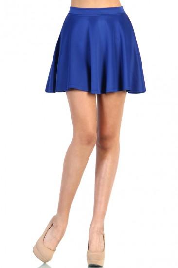 LoveMelrose.com From Harry & Molly   Skater Skirt - Blue