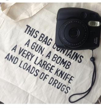 bag christmas gift funny grunge polaroid camera