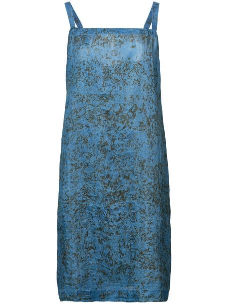 Dosa dress women blue silk