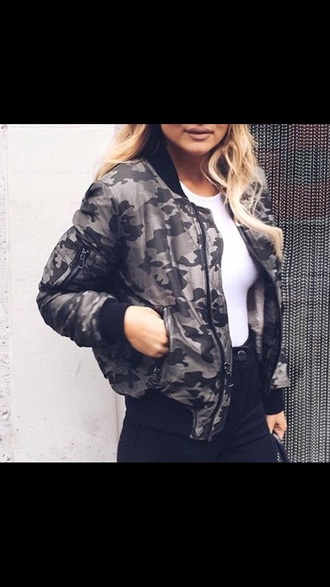 jacket black and grey jacket bomber jacket
