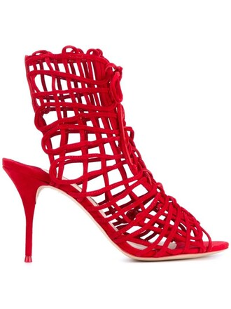 strappy sandals red shoes