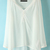 White V Neck Long Sleeve Buttons Chiffon Dress - Sheinside.com