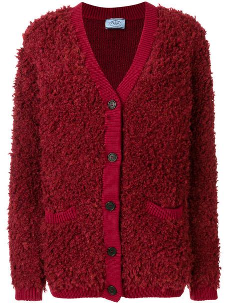 Prada cardigan cardigan women wool red sweater