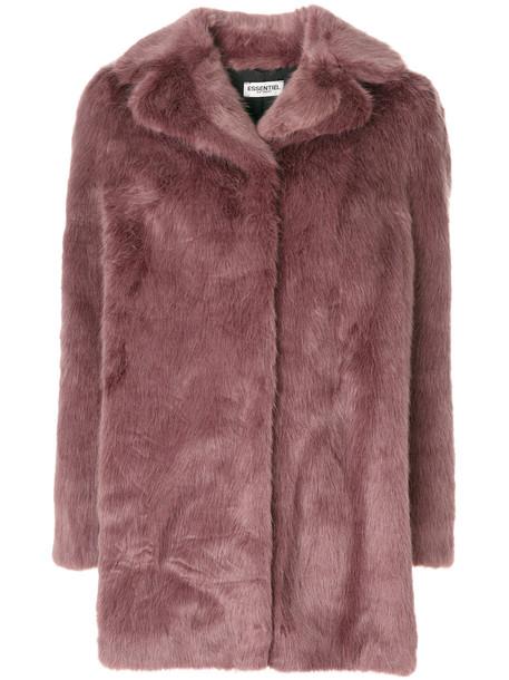 Essentiel Antwerp faux fur coat - Pink & Purple