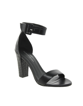 Kg by kurt geiger cristal leather single sole heeled sandals at asos