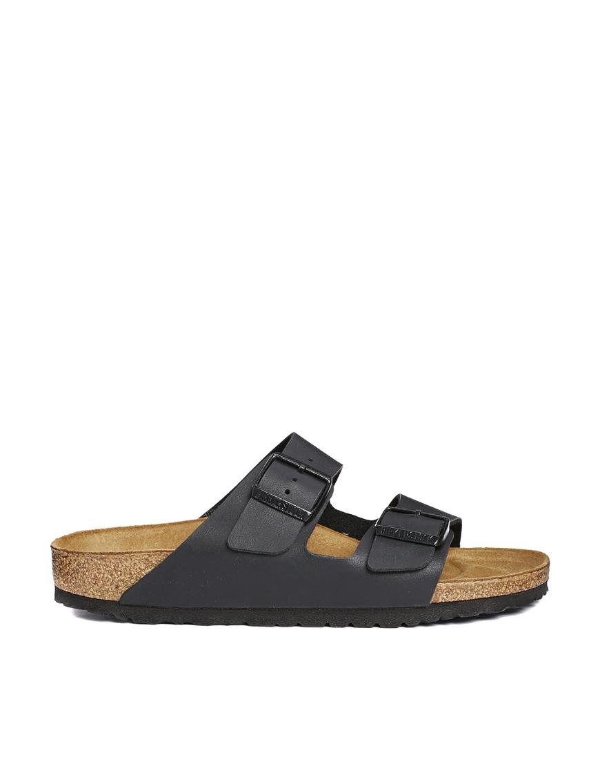 Birkenstock Arizona Black Flat Sandals at asos.com