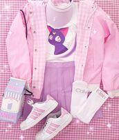 bag,kawaii,pastel,pink,purple,anime,tumblr,sailor moon,skirt,fashion,teenagers