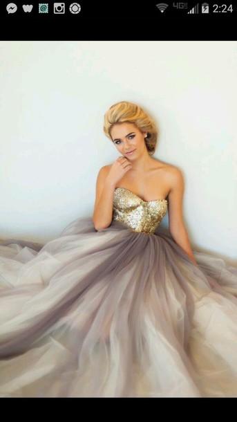 dress amber gold dress long dress prom dress homecoming dress formal dress gold gold sequins silver grey