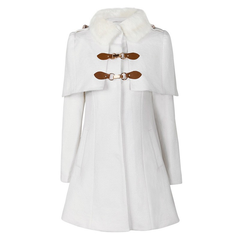 Jayle winter white faux fur coat