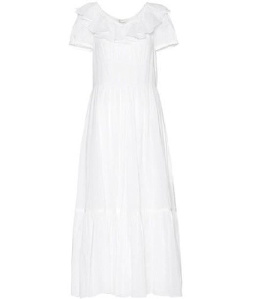 Saint Laurent dress cotton white