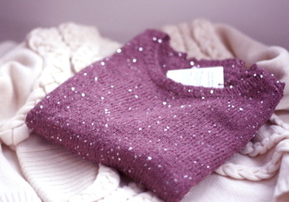 bordeaux sweater paillettes