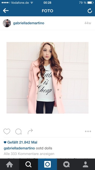 coat gabi demartino rose coat pink coat rose coat gabi demartino