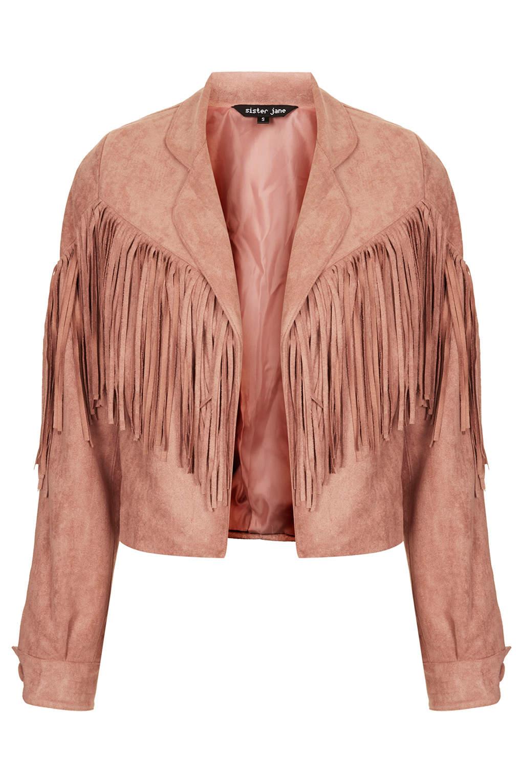 **suede fringe jacket by sister jane