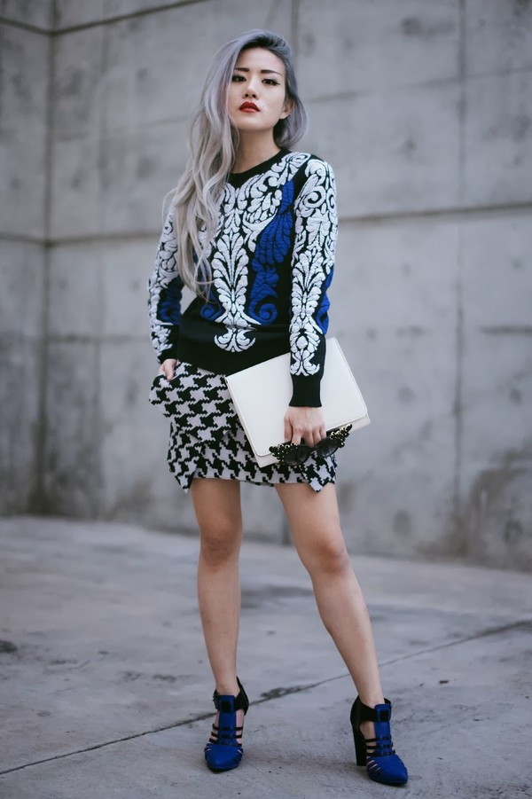 feral creature sweater skirt shoes bag sunglasses