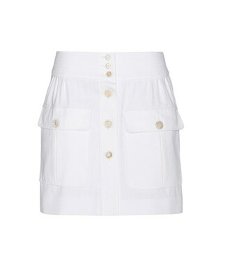 miniskirt cotton white skirt