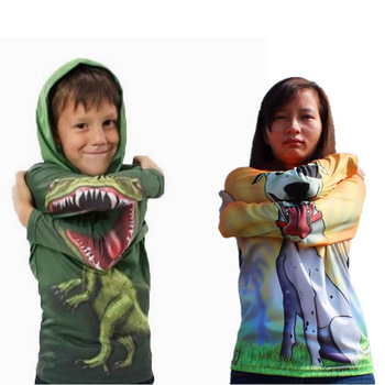 Free shipping 1pcs retail Dinosaur / dog / crocodile 3D kids hoodies boys&girls children's t shirts shij-in Hoodies & Sweatshirts from Apparel & Accessories on Aliexpress.com