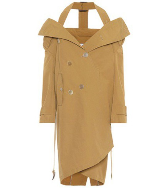 Balenciaga coat trench coat cotton beige