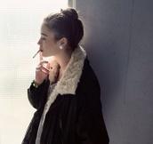 coat,black,winter outfits,white,fur,warm,jacket