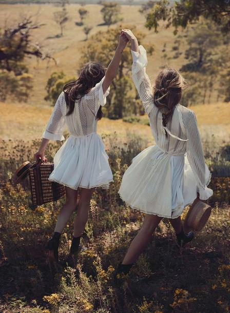oracle fox blogger white dress bff lifestyle dress