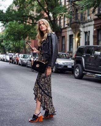 shoes black shoes jacket black jacket dress multi dress bag black bag