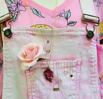 shirt overalls jumpsuit pink