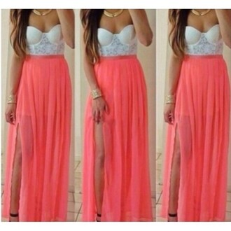 skirt find this outfit for me please pink skirt white corset top
