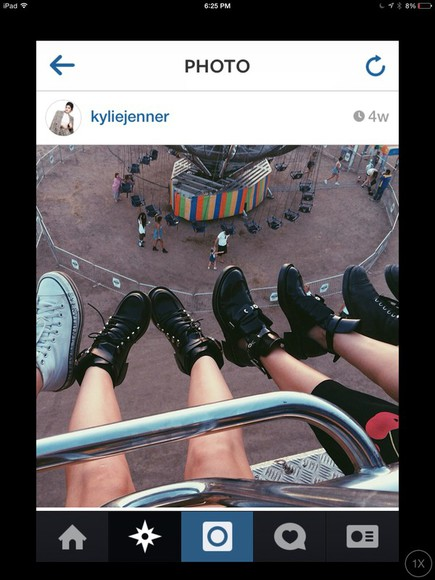 fashion black shoes kylie jenner ankle boots boots