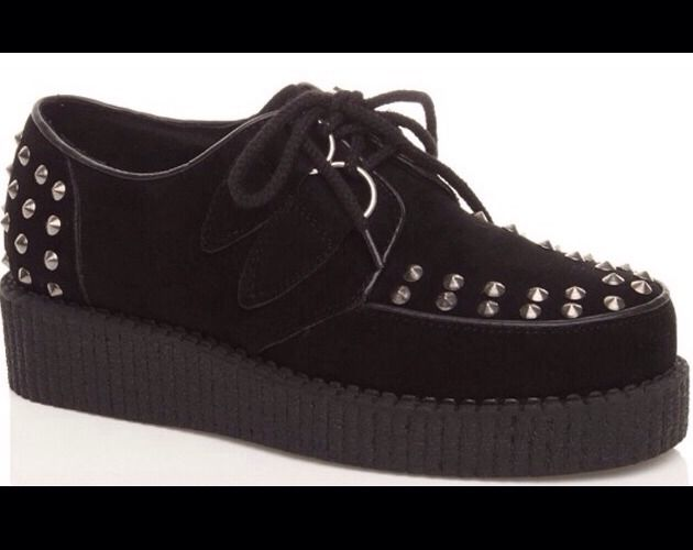 NEW Black Studded Creepers Size 5 RRP