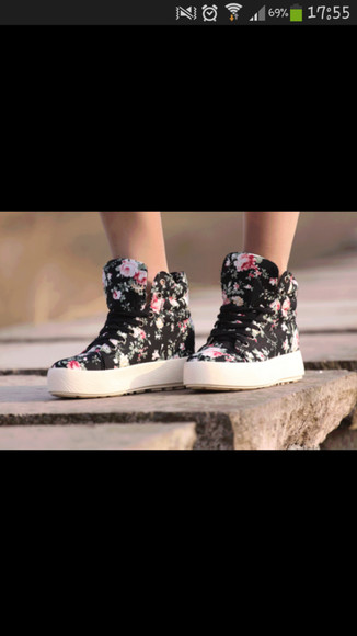 shoes basket floweurs fleurie printemps