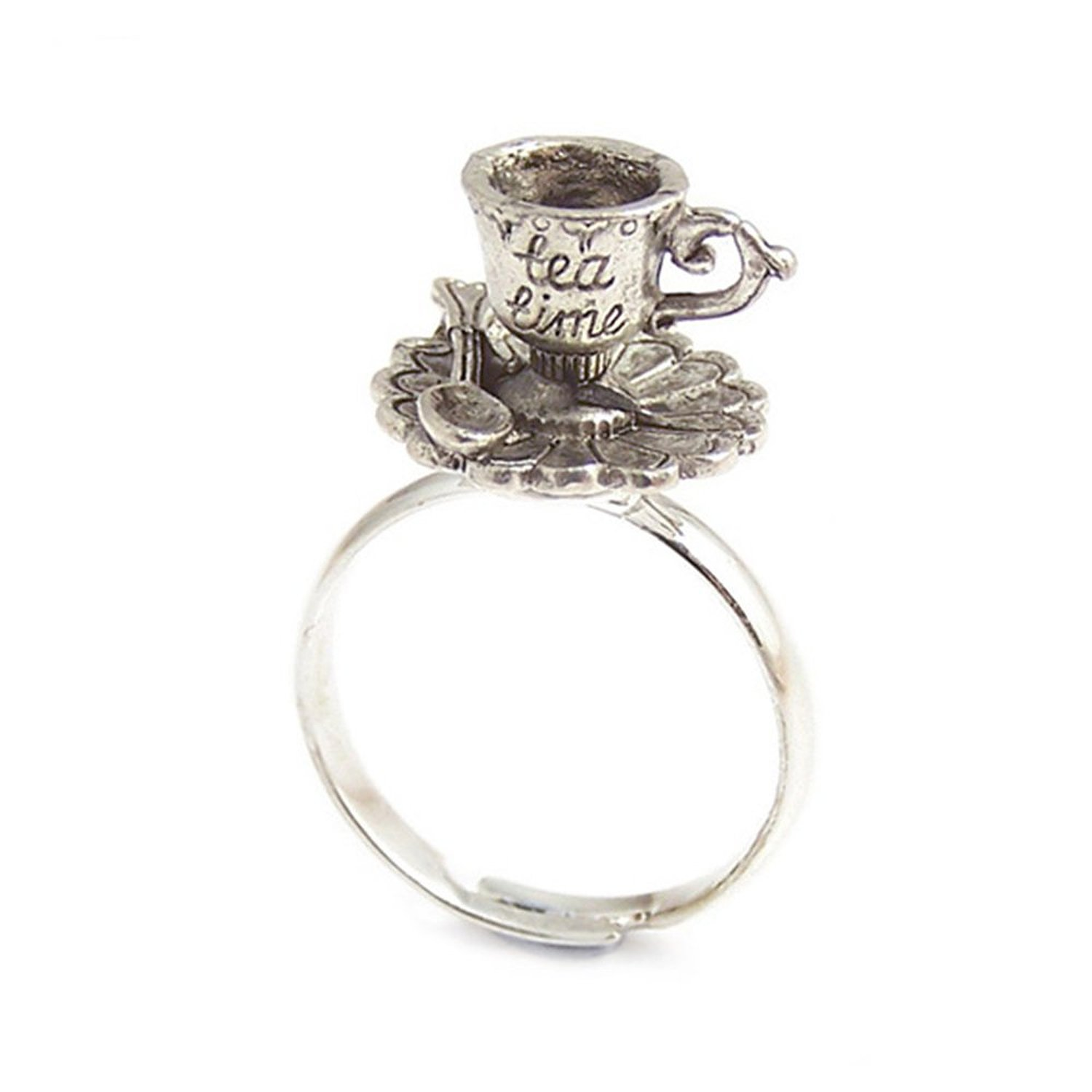 865b1a31b Tea cup ring - Alice in Wonderland adjustable ring TEA pot TIME:  LunarraStar Jewellery: Amazon.co.uk: Jewellery