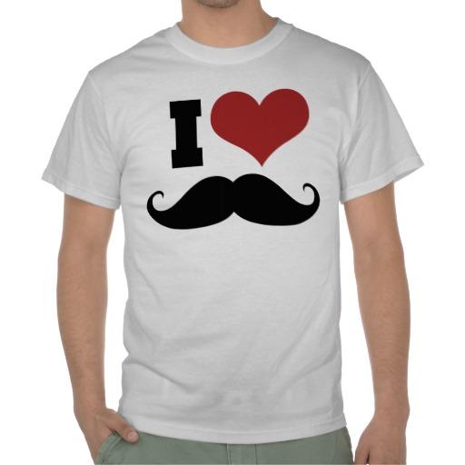 I love moustache t shirts