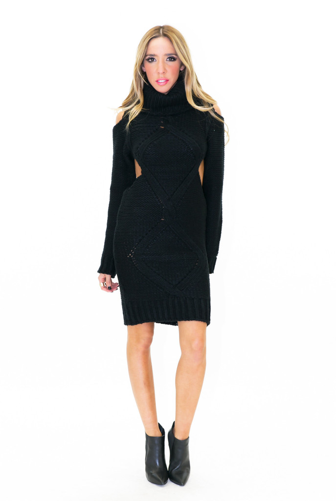 MARC ULTRA KNIT TURTLENECK DRESS
