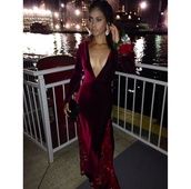 red lace backless prom dress long,dress