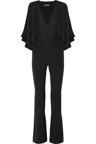 jumpsuit chiffon silk black