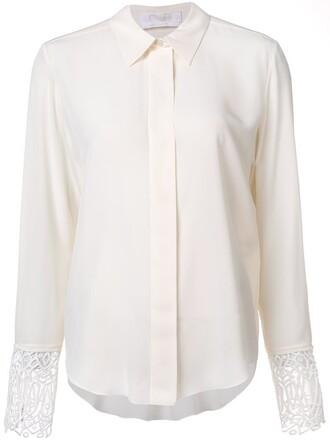 blouse lace white top