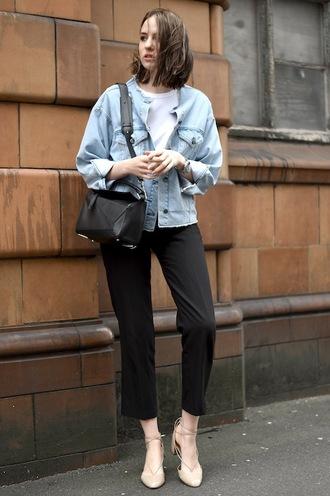 le fashion blogger jacket t-shirt bag pants shoes
