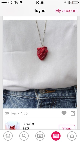 jewels necklace earrings look de pernille cool heart red dress black fashion lovely pepa cool girl style shirt