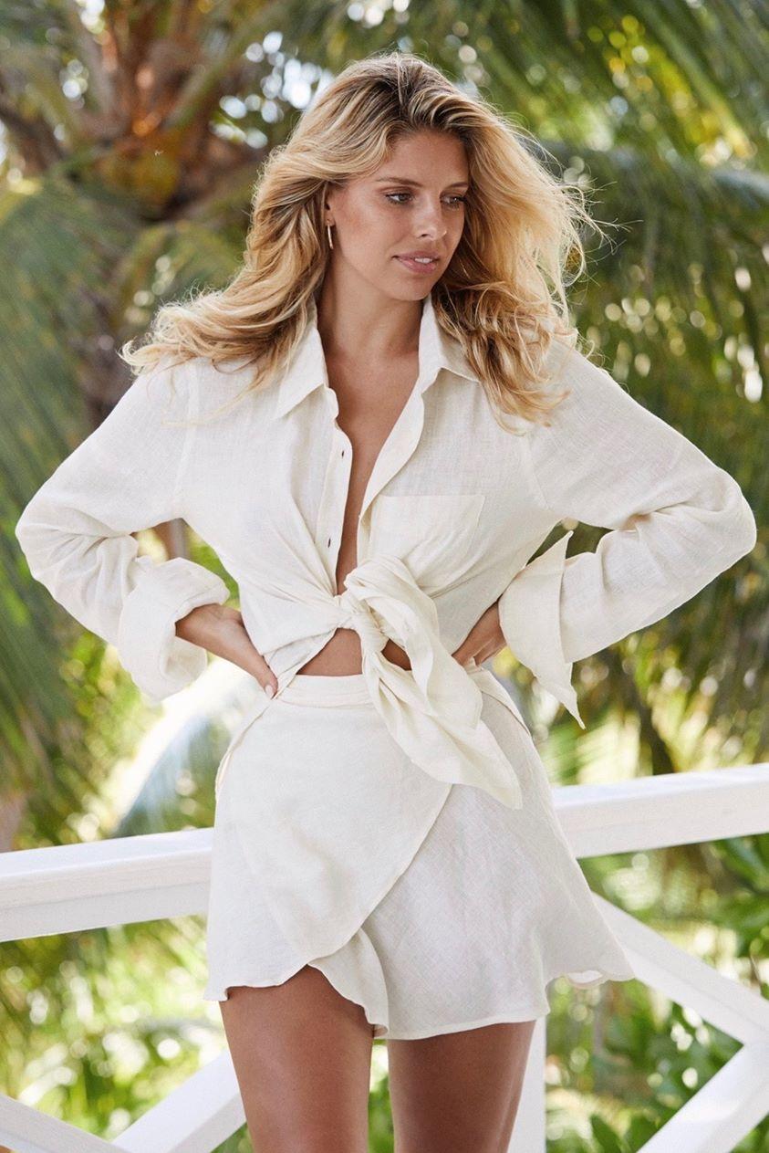 Monaco Linen Shirt - Ivory