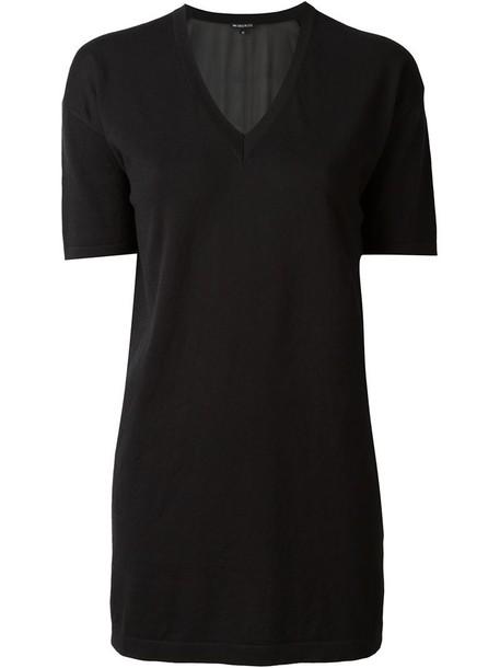 ANN DEMEULEMEESTER top knit v neck black