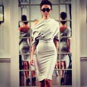 dress,silver,off the shoulder,pencil dress,grey